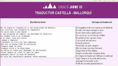 Más de 20.000 usuarios han usado el traductor castellano-mallorquín