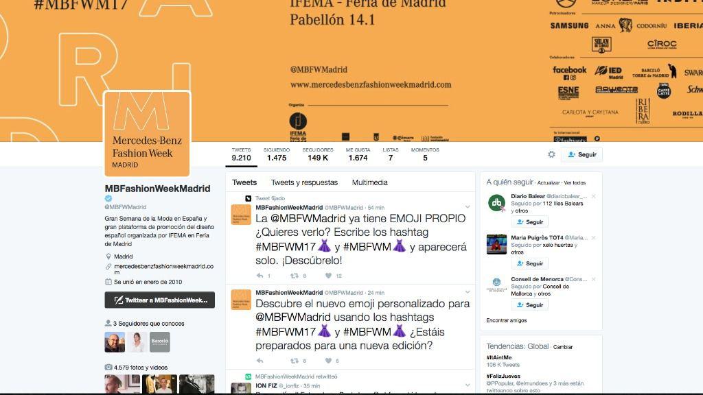 La Fashion Week de Madrid se podrá ver en 360 grados en Twitter