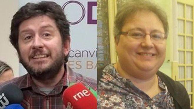 El secretario general de Podem Balears y la expulsada del partido morado
