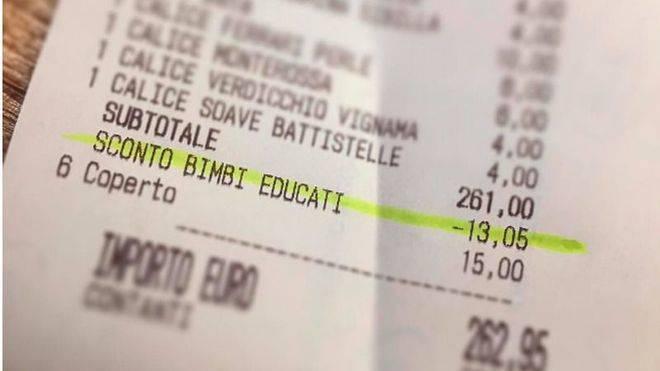 Un local descuenta 13 € a una familia por la buena educación de los niños
