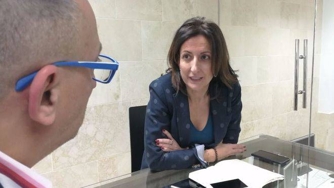 La presidenta de la FEHM, en la sede de mallorcadiario.com