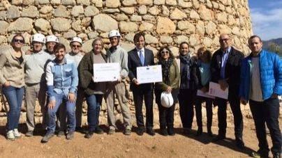 Termina la primera fase de restauración de la torre de sa Mola