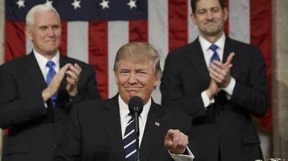 Trump carga de tópicos su primer discurso ante el Congreso