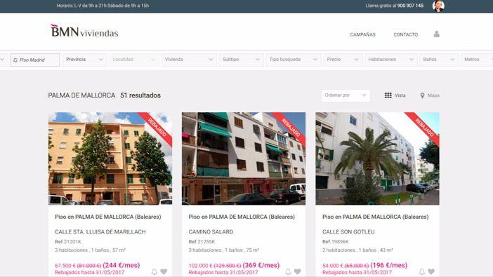 BMN oferta 230 viviendas con un descuento medio de 32.000 euros en Balears