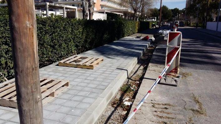 17.000 euros para mejorar el pavimento en calles de Platja de Palma