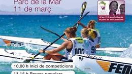 El Parc de la Mar acoge el I Trofeo Palmadona de piragüismo femenino