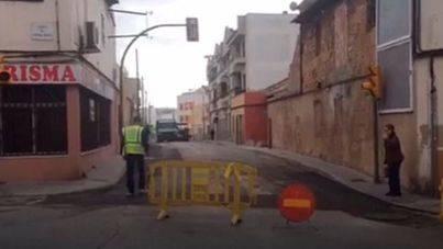 Desvio por obras en el Coll d'en Rabassa