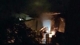 Un piso calcinado tras un incendio en Sóller