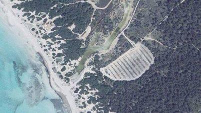 Imagen aérea del aparcamiento de Na Tirapel