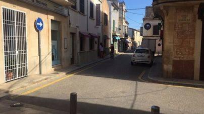 Empieza una nueva fase de empedrado del centro histórico de Santanyí