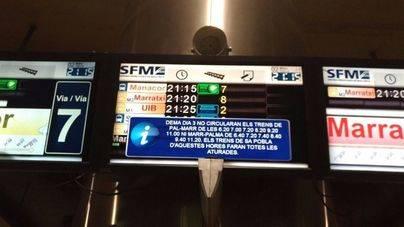 Fin a la huelga del tren en Mallorca