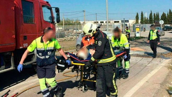 Herido grave un hombre al estrellarse con su coche en la carretera de Felanitx-Porreres