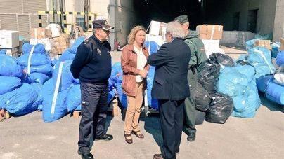 Maria Salom junto a los responsables de Policía Nacional y Guardia Civil en Balears