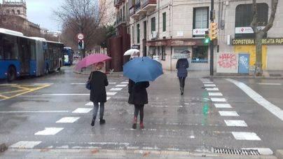Llega un frente frío que dejará lluvias en Balears
