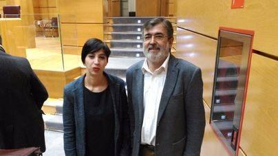 Silvia Cano y Francesc Antich este jueves en el Senado