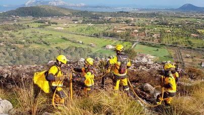 Arden 3 hectáreas en un incendio forestal en Can Suau de Pollença