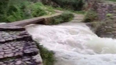 El torrent de Biniaraix durante la racha de lluvias