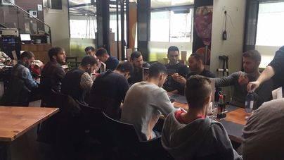 El Palma Futsal se reúne a manteles antes del Barça