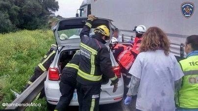 Los Bomberos de Mallorca intervienen para extraer a las víctimas