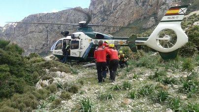 Rescate de una excursionista en la Vall de Bóquer
