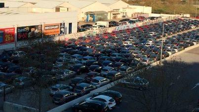 Los depósitos de coches de alquiler se adentran en el centro de Palma