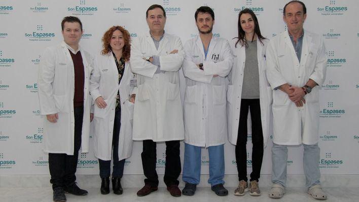 El Dr. José Maria García, la Dra. Cristina Pineño, el Dr. Xavier González, el Dr. Juan José Segura, la Dra. Patricia Jimenez y el Dr. Rafael Morales