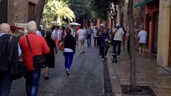 Turistas de temporada baja en Palma