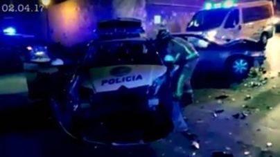 Dos policías heridos al perseguir a un conductor ebrio en Palma