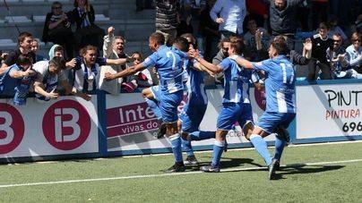 El Atlètic Balears gana al Prat (1-0) en el tiempo añadido