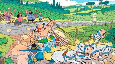 Astérix y Obélix desembarcan en Italia