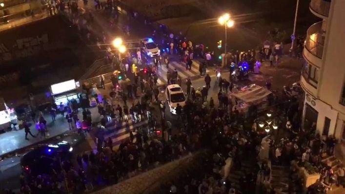 Varios heridos y miedo en una estampida en una procesión en Málaga