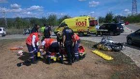 Un motorista de 17 años herido grave en un accidente en Manacor