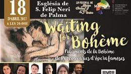 La iglesia Sant Felip Neri acoge este martes la gala 'Waiting for bohème'