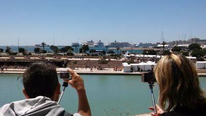 Hay días en los que en Palma coinciden hasta 8 cruceros. Foto: Ports de Balears
