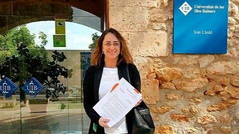 La diputada Olga Ballester, en la UIB