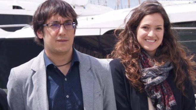 La gerente del IDI, Nuria Hinojosa, junto al conseller Negueruela en la presentación del Salón Náutico 2016