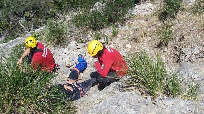 Rescate de un excursionista italiano en el torrent des Gorg Blau