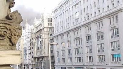 Incendio en un edificio en plena Gran Vía de Madrid