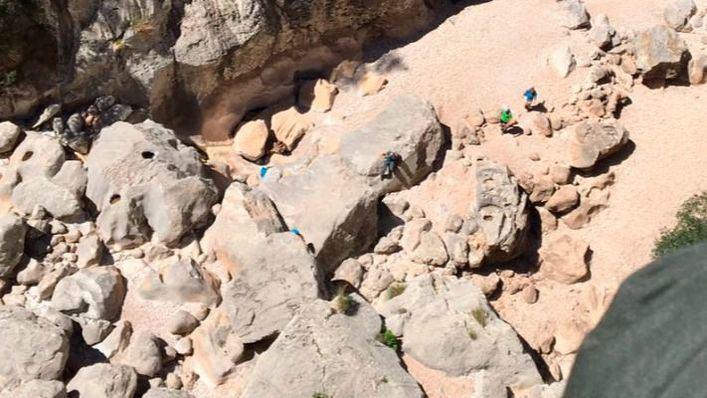 Rescatado un turista de 74 años en el Torrent de Pareis tras caer desde varios metros de altura