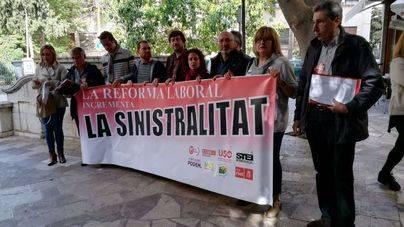PSIB, Més, Podem, EU y sindicatos afirman que la reforma laboral aumentó la siniestralidad un 24%