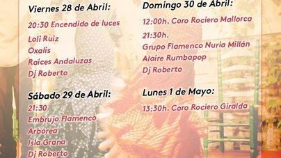 Recinto modificado para la Feria de Abril de Andratx