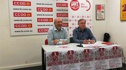 CCOO y UGT convocan tres actos en Balears para el 1 de mayo para pedir empleo estable y salarios justos
