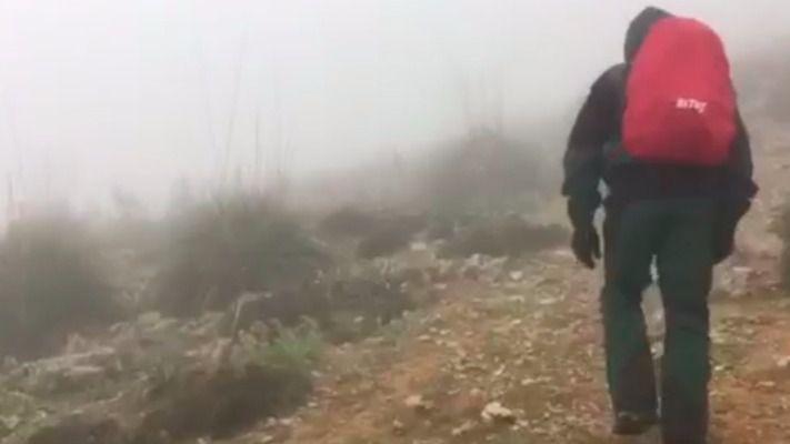 La Guardia Civil rescata a una pareja de excursionistas alemanes perdidos en plena tormenta en Sa Mola