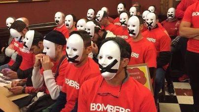 Imagen de la última protesta en el Pleno de Cort