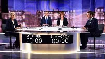 Las encuestas dan a Macron como ganador del cara a cara con Le Pen