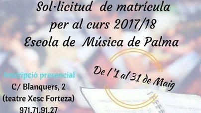 Hay plazo para la Escuela Municipal de Música hasta el 31 de mayo