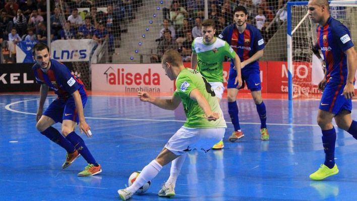 El Palma Futsal pierde 2-5 ante el Barcelona el primer partido de la eliminatoria
