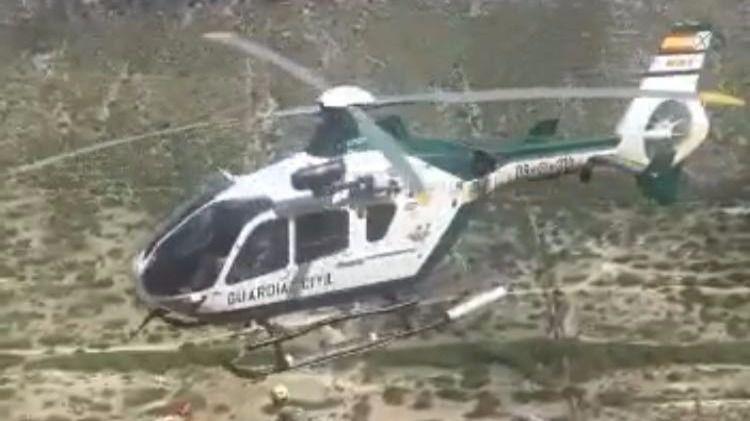 Rescatado en helicóptero un excursionista de 63 años en la Serra de Bóquer en Pollença