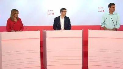 Susana Díaz a Pedro Sánchez en el debate: