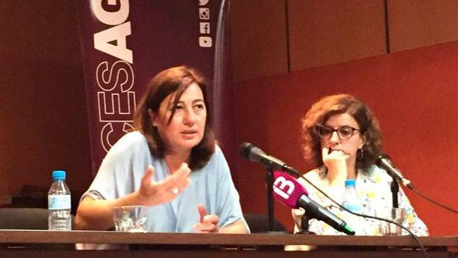Armengol apoya ahora a Pedro Sánchez y pide a Patxi López que